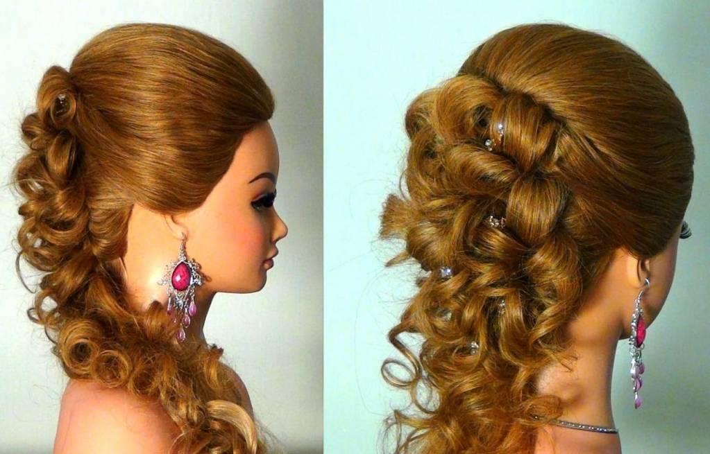 Прически вечерние на длинных волосах