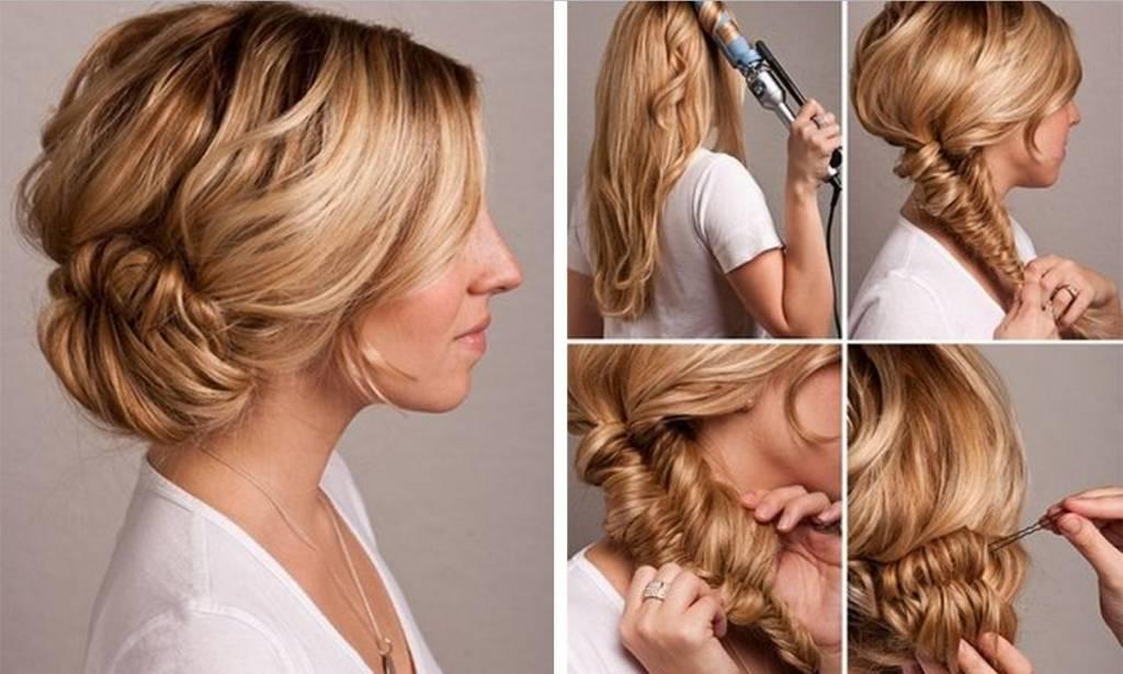Причёски на работу для длинных волос