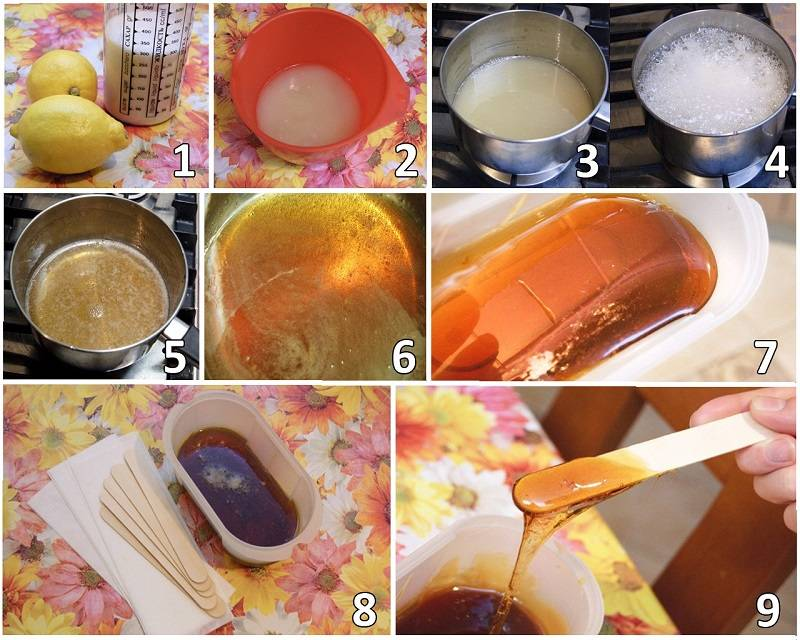 рецепты пасты для шугаринга из меда